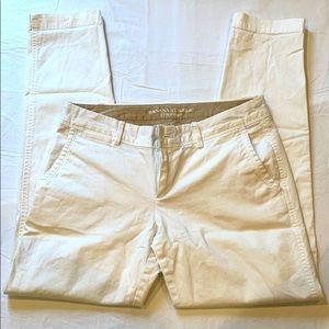 Banana Republic white pants size 0